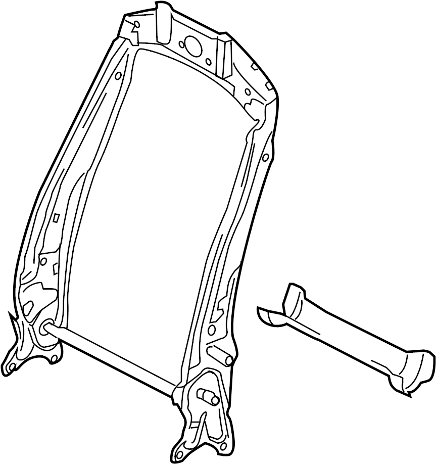 Volkswagen Tiguan Seat Back Frame. Right, COMPONENTS