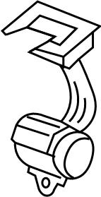 Volkswagen Passat Seat Belt Guide. Brown. WAGON, 2010-11