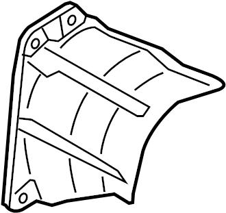 Volkswagen CC Cv joint splash shield. 3.6 liter, w/awd. Cc