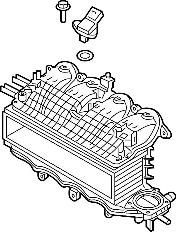 Volkswagen Jetta Engine Intake Manifold. LITER, HYBRID