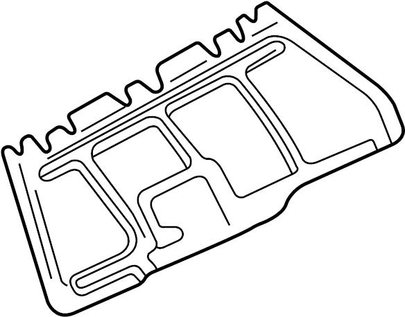 Volkswagen Jetta GLI Radiator Support Splash Shield. LITER