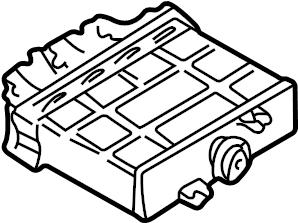 Volkswagen Jetta Wagon Fuse Box. Auto trans, 2.0 liter