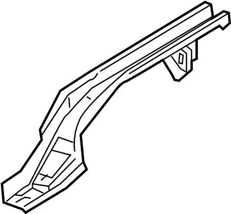 Volkswagen Jetta GLI Floor Side Rail. SEDAN. BODY, Left