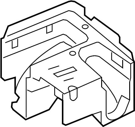 Volkswagen GTI Fuse and Relay Center Bracket. Fuse Box