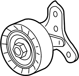 Volkswagen Jetta Wagon Accessory Drive Belt Idler Assembly