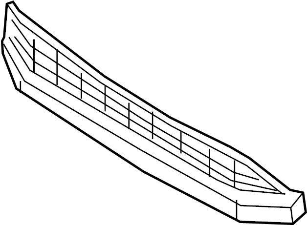 Volkswagen Jetta GLI Grille. W/GLI, 2016-18. BUMPER, FRONT