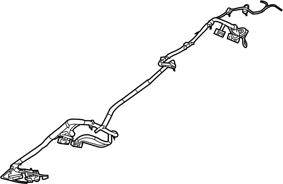 Volkswagen Routan Console Wiring Harness. CENTER W/O