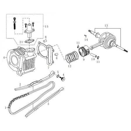 139QMB-E (E3) Cylinder/Crank Shaft