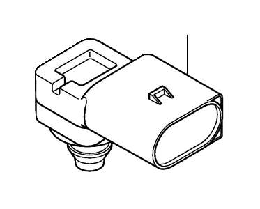 Volvo XC60 Pressure sensor. Regulating system. Engine