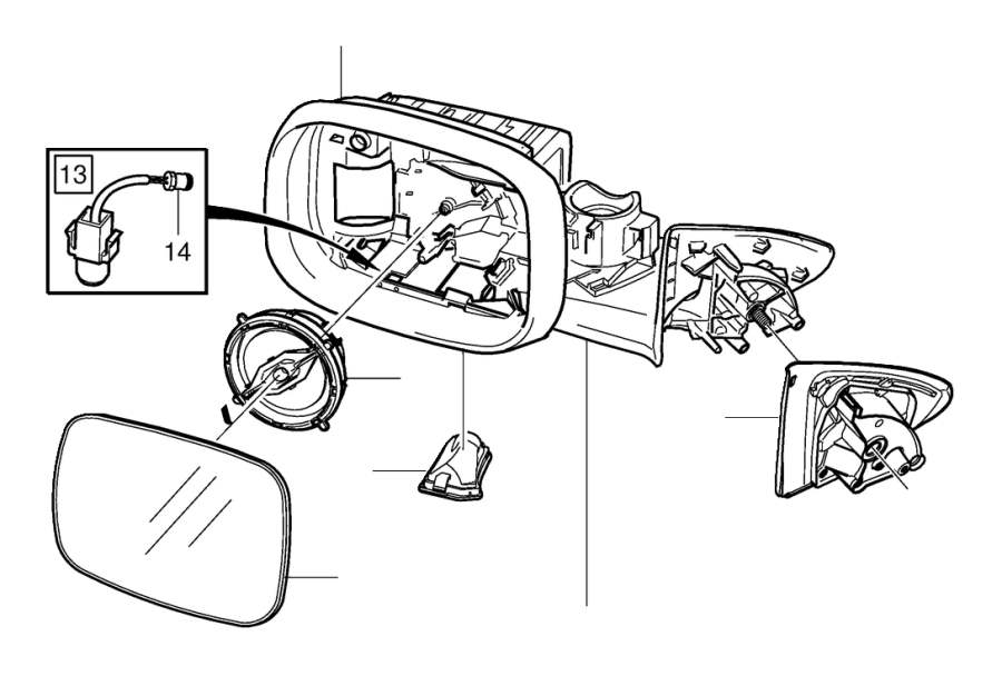 Volvo V60 Cross Country Drive unit. Mirrors, Door