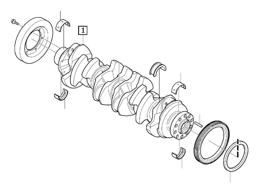 Volvo XC60 Sealing ring. Crank mechanism. Engine