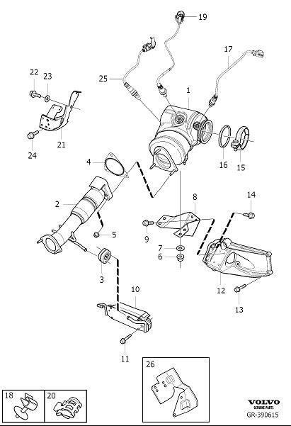 Volvo XC60 Heated oxygen sensor. Variant, Code, Converter