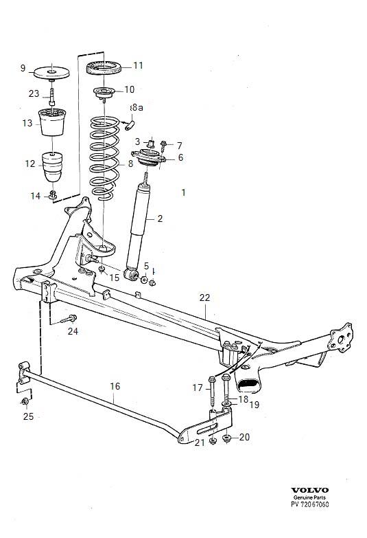 Volvo 850 Support Plate. Suspension, Levelling, NIVOMAT
