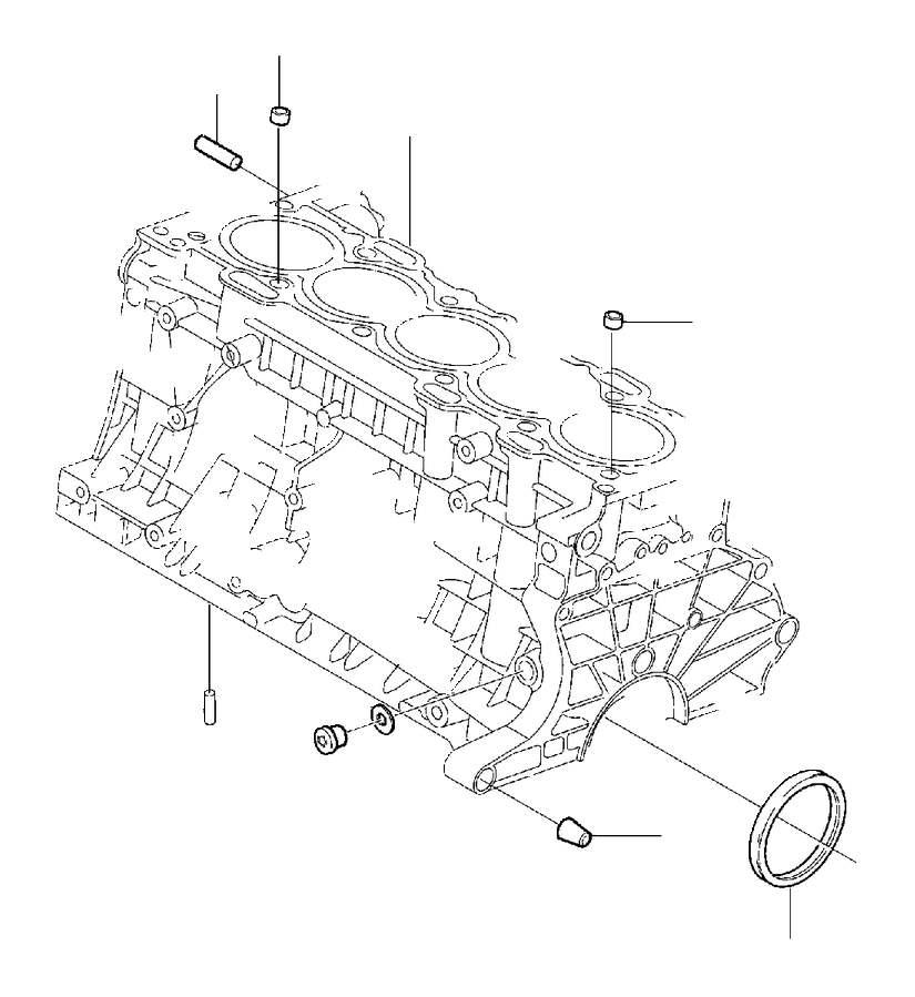 2000 Volvo V70 XC Guide sleeve. Block, Engine, Cylinder