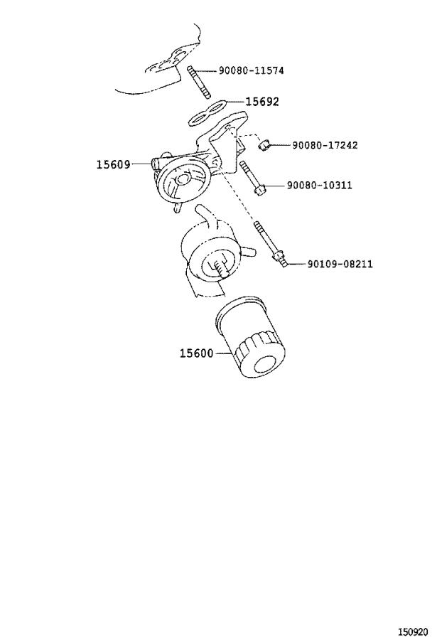Toyota Tundra Engine Oil Filter Adapter Seal. Gasket, Oil