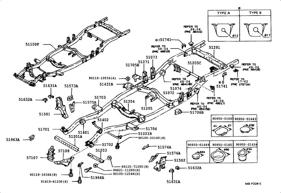 Toyota 4Runner Crossmember sub-assembly, frame auxiliary