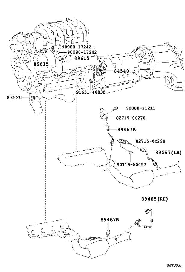 Toyota Sequoia Liftgate Release Switch. ENGINE, PANEL