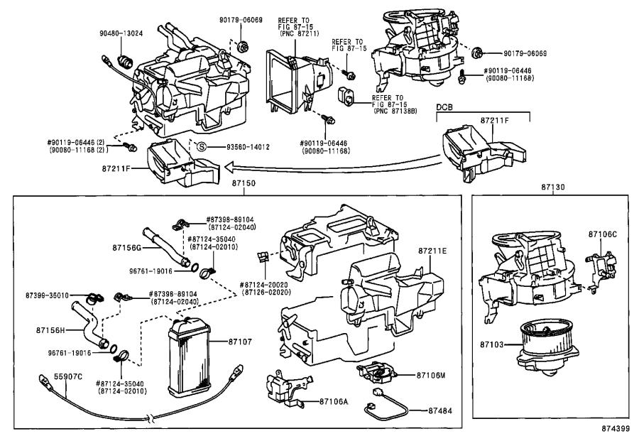Toyota Tacoma Motor sub-assembly, heater blower, with fan