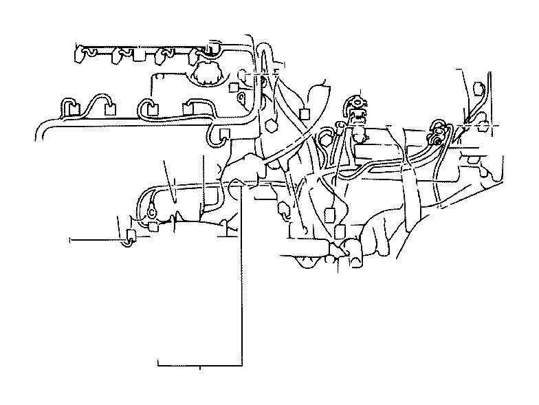 Toyota Corolla Wire, engine, no. 3. Roof, floor, cable