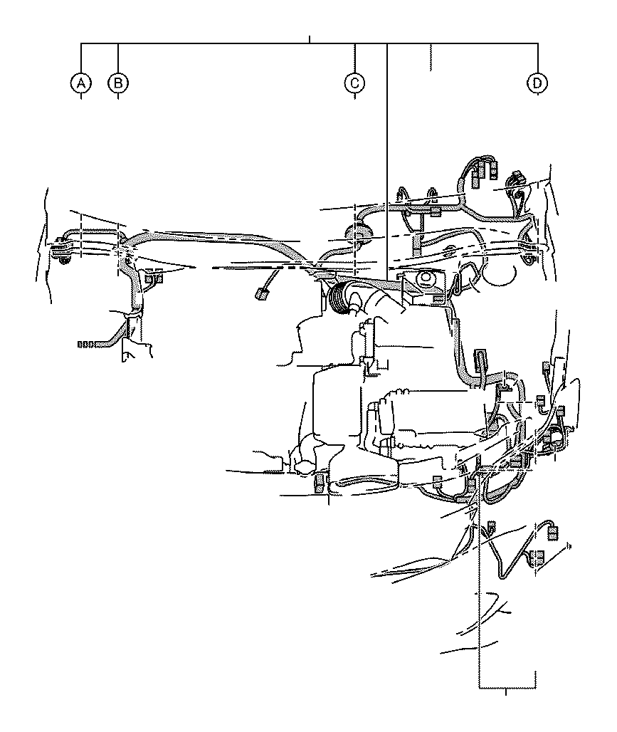 Toyota Avalon Wire, engine room ma. Connector, clamp