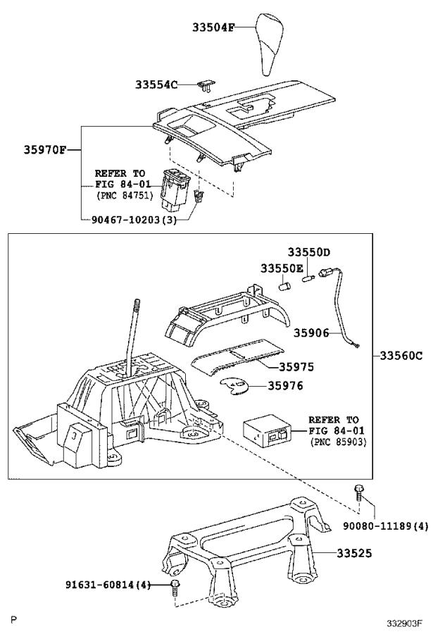 Toyota Camry Housing assembly, position indicator. Lt