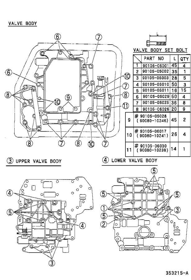 Toyota Camry Spring, compression (for lock up relay valve