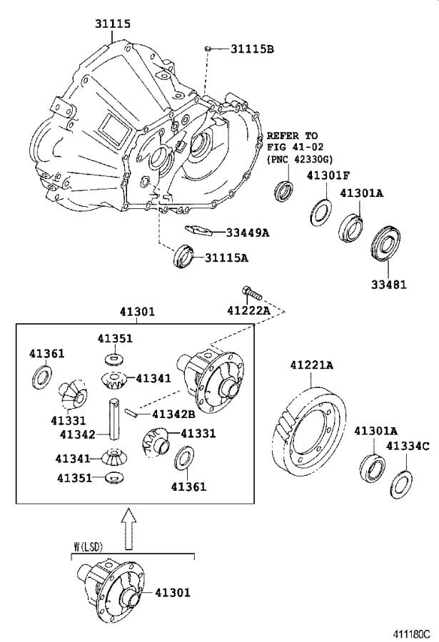 Toyota MR2 Manual Transmission Differential (Front, Rear
