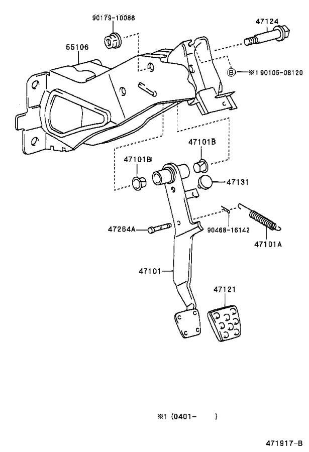 Toyota MR2 Support sub-assembly, brake pedal. Lhd, brakes