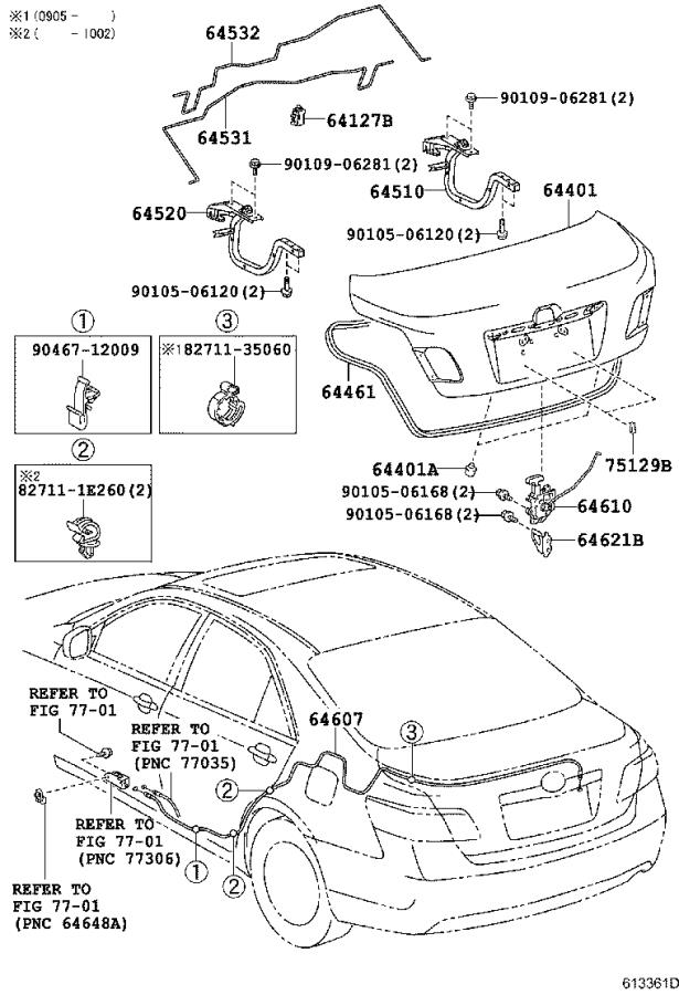Toyota Camry Panel sub-assembly, luggage compartment door