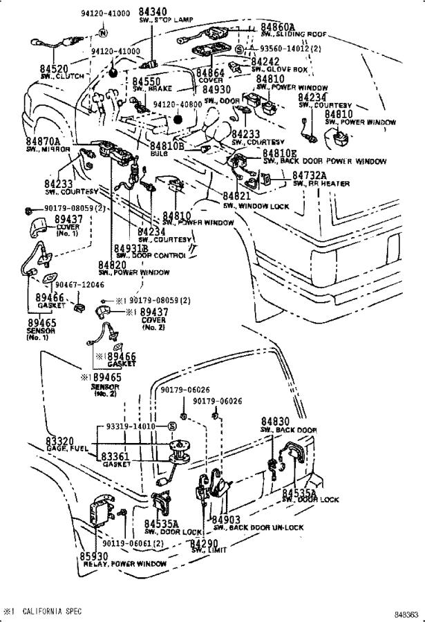 Toyota Truck Switch assembly, parking brake. Engine