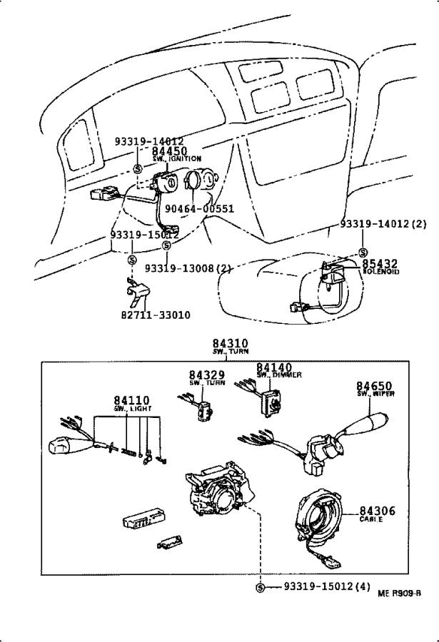 Toyota Camry Engine Cooling Fan Switch. Switch