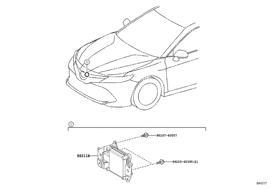 Toyota Camry Sensor assembly, millimeter wave radar