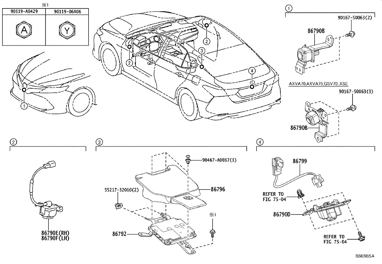 Toyota Camry Park Assist Camera Connector. Wire