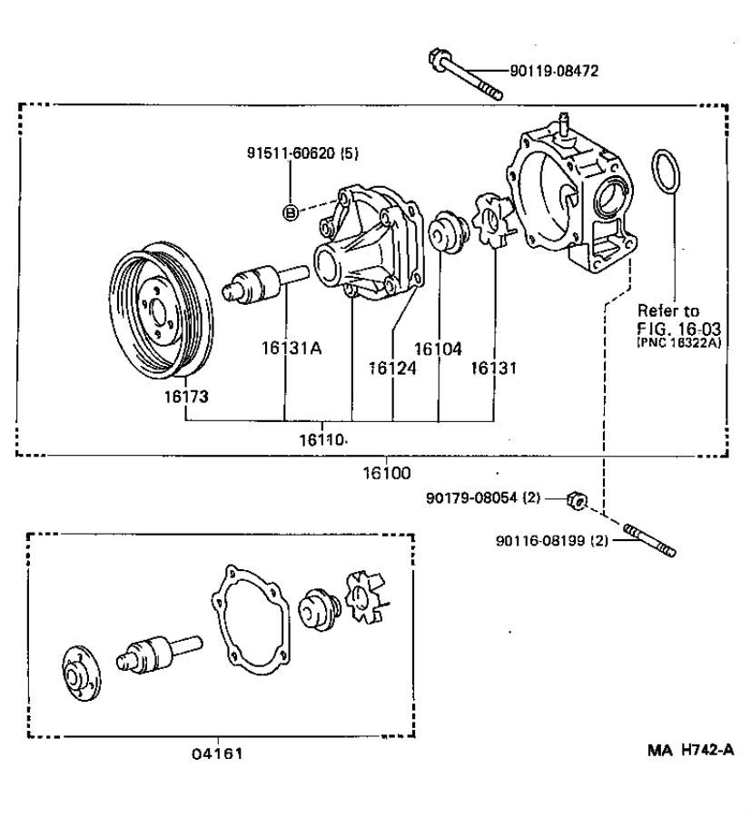 Toyota Paseo Engine Water Pump Pulley. A pulley that