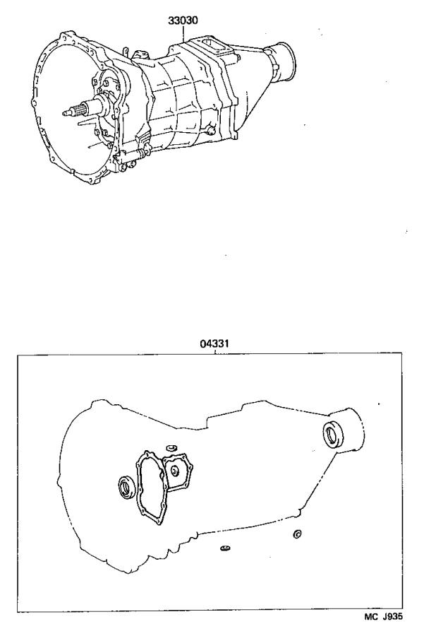 Toyota Previa Transmission unit assembly, manual. Mtm