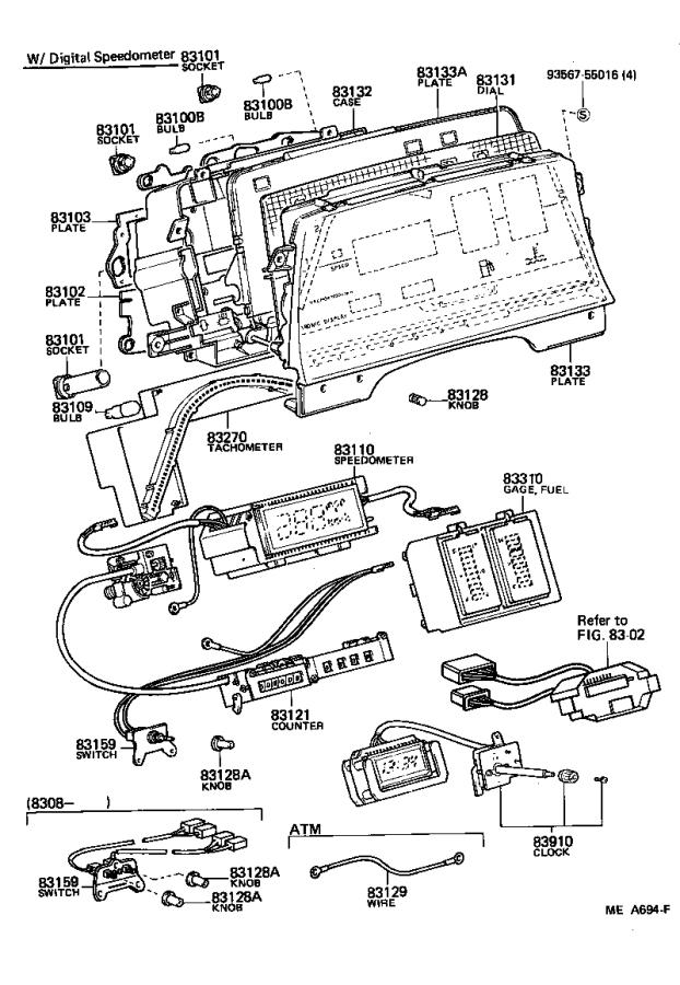 Toyota Celica Socket & wire; socket sub-assembly