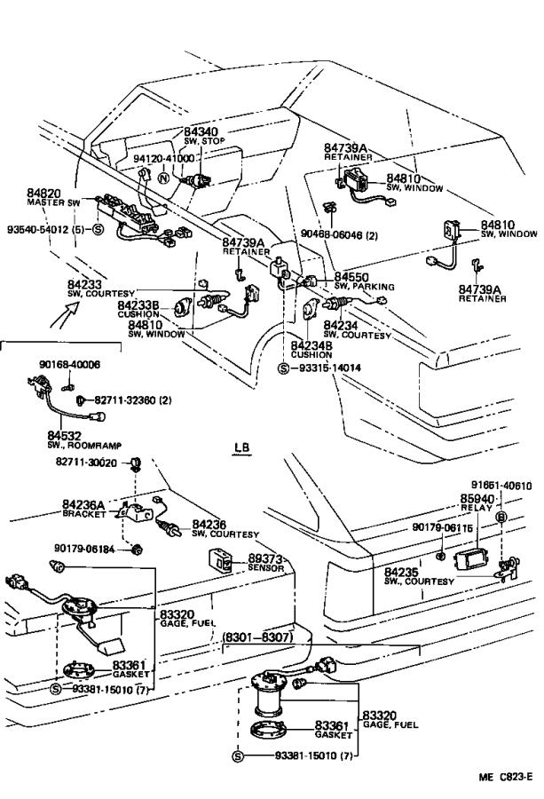 Toyota Camry Breaker assembly, wiring circuit, no. 1