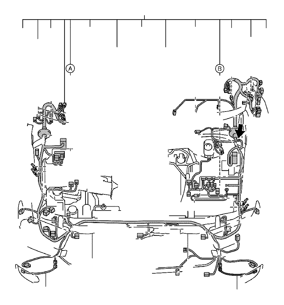 Toyota Tundra Connector, wiring harness. Engine, seat