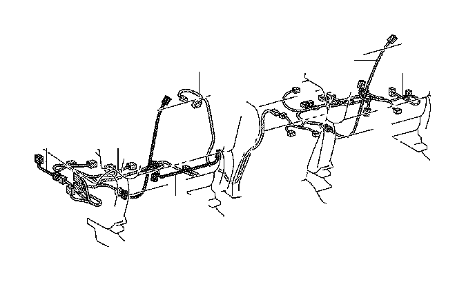 Toyota Tundra Wire, rear seat, left. Engine, clamp