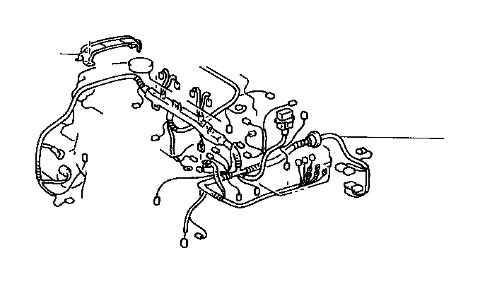 Toyota Celica Protector, wiring harness, no. 2. Wire