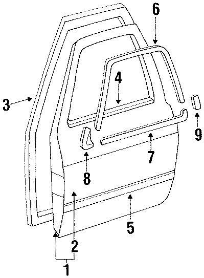Volkswagen Jetta Door panel. Outer panel. Part is included