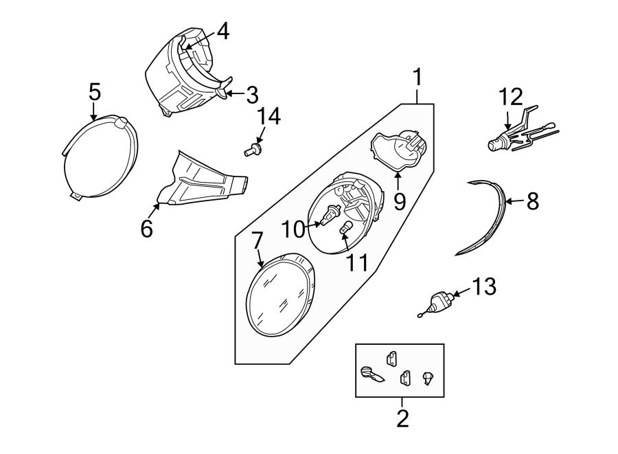 Volkswagen Beetle Convertible Headlight Bulb Cap