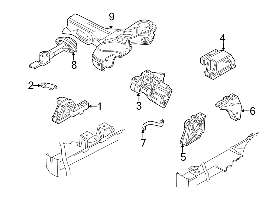 Volkswagen Beetle Convertible Gear. Mount. Transmission