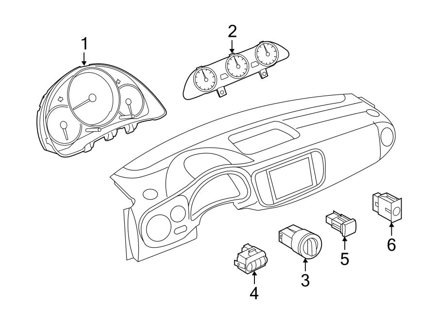 Volkswagen Beetle Convertible Headlight Switch. TO 12/06