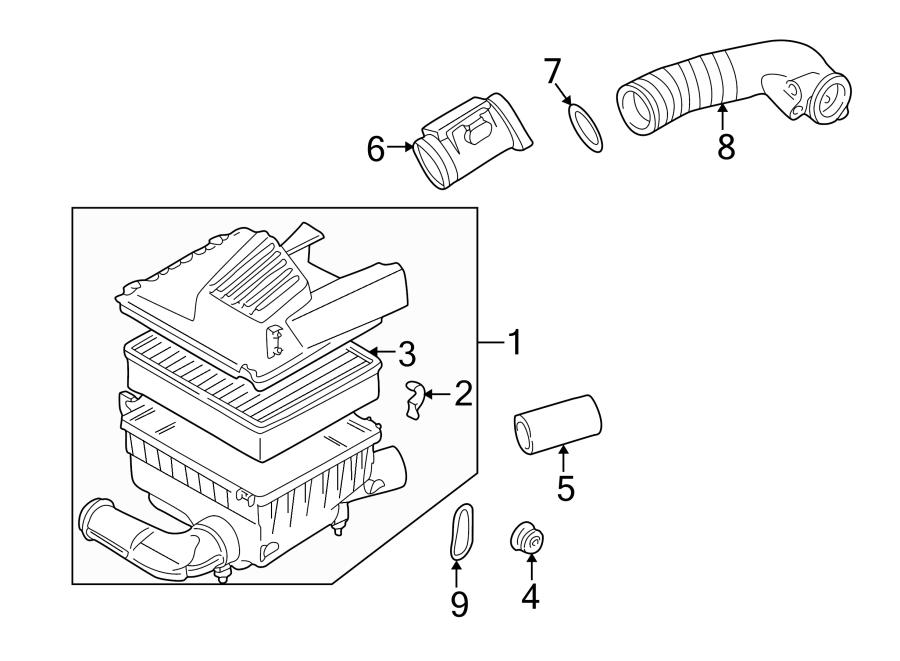Volkswagen Cabrio Mass Air Flow Sensor. ENGINE, LITER