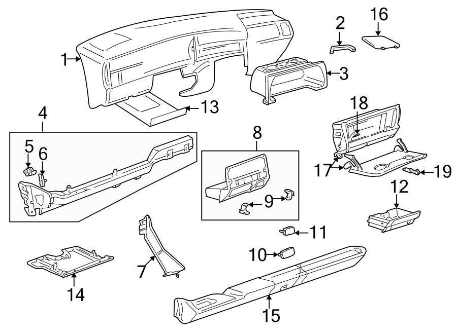Volkswagen Cabrio Instrument Panel Trim Panel. Fuse Box