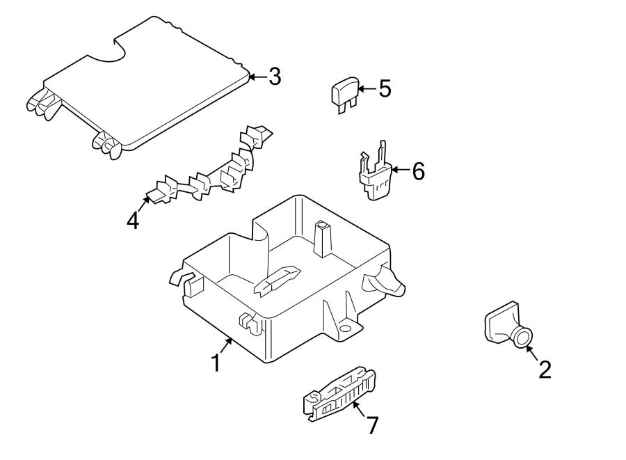 Volkswagen Phaeton Fuse Box Grommet. FRONT FUSE BOX, #1