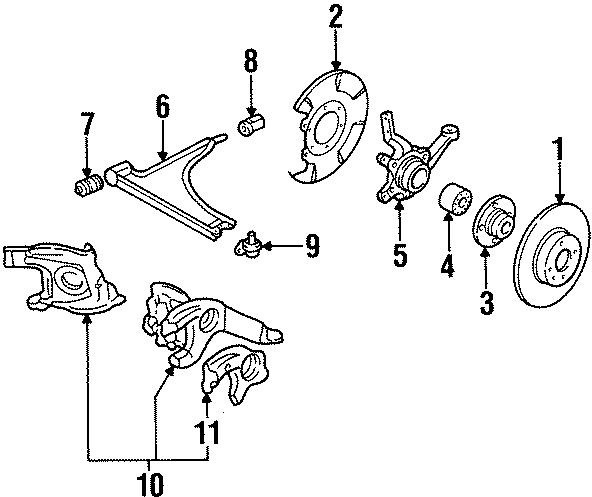 Volkswagen Cabriolet Disc Brake Rotor. Right, Left, GLI