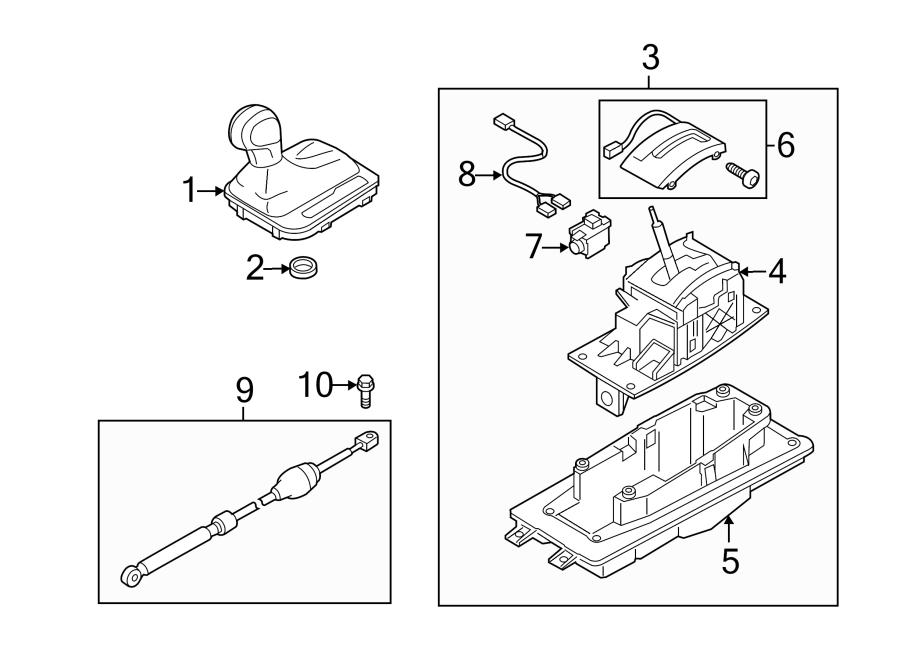 Volkswagen Touareg Console Wiring Harness. Shift Interlock