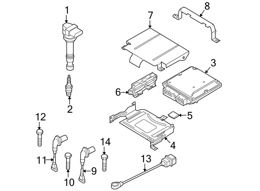Volkswagen Tiguan Engine Control Module. Auto trans, w/o